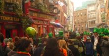 Vier St. Patricks Day in Dublin